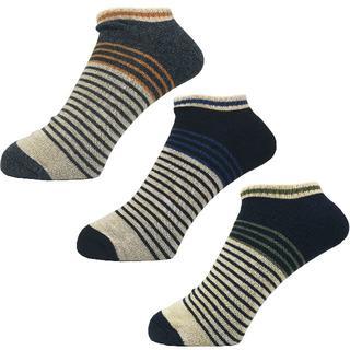 アルファ(alpha)のアルファメンズソックス靴下「ボーダー切替」3PACK 1306 新品(ソックス)