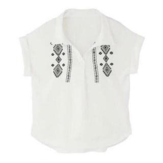 GRL - 新品 GRL グレイル オルテガ刺繍スキッパーシャツ