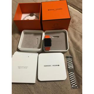 アップルウォッチ(Apple Watch)の[送料込]apple watch エルメス HERMES 42mmseries3(腕時計(デジタル))