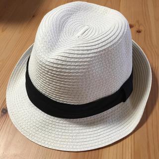 ジーユー(GU)の新品タグ付き☆GU ストローハット ホワイト(麦わら帽子/ストローハット)