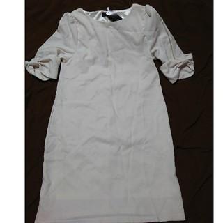 シマムラ(しまむら)のしまむら新品未使用タグ付袖リボンワンピ(ひざ丈ワンピース)