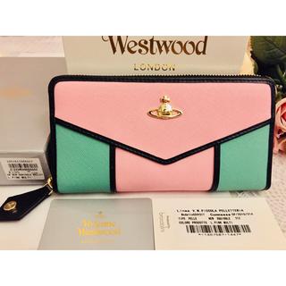 ヴィヴィアンウエストウッド(Vivienne Westwood)のヴィヴィアンウエストウッド 長財布  ピンク マルチカラー  新品未使用品(財布)