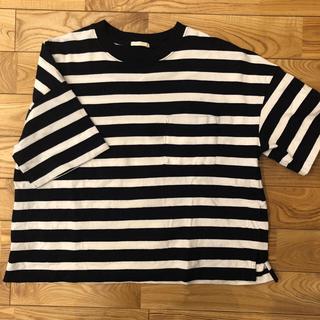 GU - 【GU レディース L】ヘビーウェイトボーダーTシャツ