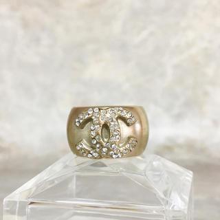 シャネル(CHANEL)の正規品 シャネル 指輪 ゴールド ラインストーン ココマーク 金 リング 石(リング(指輪))