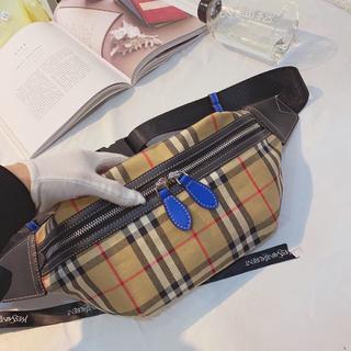 バーバリー(BURBERRY)のバーバリー 人気防水 メンズファッション pvc ボディバッグ ウエストバッグ(ウエストポーチ)