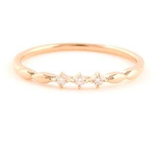 エテ(ete)のエテ K10 ダイヤモンド リング 9号 PG レイヤード(リング(指輪))
