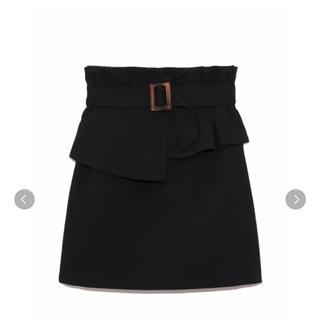 Lily Brown - ペプラムベルト付きスカート