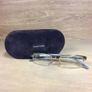 トムフォード(TOM FORD)のトムフォード メガネ ブラウン ゴールド 細レンズ 度なし 180305(サングラス/メガネ)