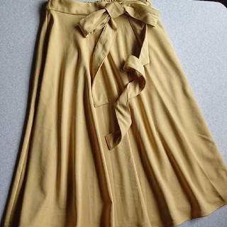 ジーユー(GU)のカラーフレアスカート GU(ひざ丈スカート)