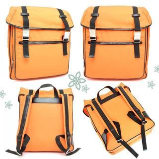 グッチ(Gucci)の激レア美品☆グッチ…リュックサック・バックパック・パソコン鞄♡オレンジ黒ナイロン(リュック/バックパック)