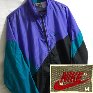 NIKE - 【クリーニング済】ナイキ NIKE 90s 銀タグ 刺繍ロゴ ナイロンジャケット