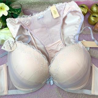 SALE☆新品未使用 F70M ブラショーset ベールピンク 大きいサイズ(ブラ&ショーツセット)