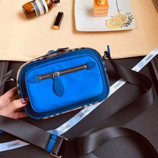 バーバリー(BURBERRY)のバーバリー 人気防水 メンズファッション pvc ブルーショルダーバッグ(ショルダーバッグ)