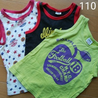 ジャンクストアー(JUNK STORE)の袖なしトップス 3点セットsize:110(Tシャツ/カットソー)