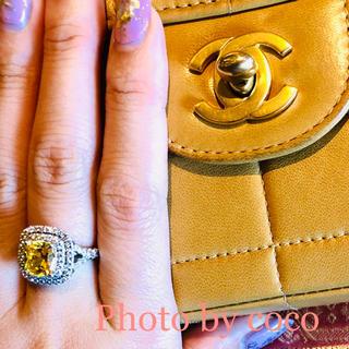 ティファニー(Tiffany & Co.)の【pt再加工済み】エンジェルピーチ イエローダイヤリング 着物 ティファニー(リング(指輪))