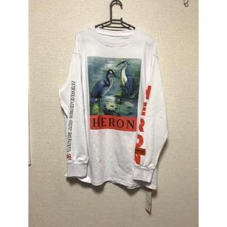 オフホワイト(OFF-WHITE)のHERON PRESTON ヘロンプレストン B&W 長袖TシャツM ロンT (Tシャツ/カットソー(七分/長袖))