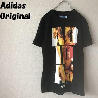 アディダス(adidas)の【人気】アディダス オリジナル ビックロゴプリントTシャツ ブラック サイズS(Tシャツ/カットソー(半袖/袖なし))