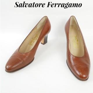 サルヴァトーレフェラガモ(Salvatore Ferragamo)のSalvatore Ferragamo  フェラガモ 6 1/2B パンプス(ハイヒール/パンプス)