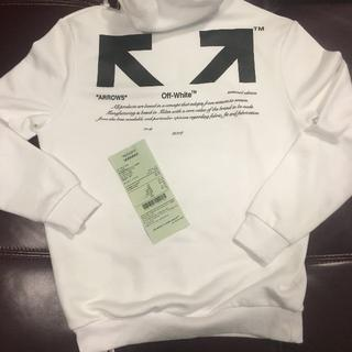 OFF-WHITE - OFF-WHITE FOR ALL パーカー 美品 サイズS