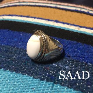 【SAAD】サード ターコイズ リング ホワイト アメカジ(リング(指輪))
