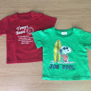 SNOOPY - Tシャツ 90 2枚セット スヌーピー
