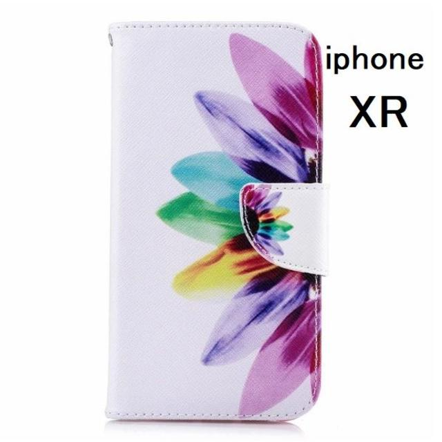 ソフトバンク iphoneケース - アイフォン XR 携帯ケース 手帳型 ひまわりの通販 by らん|ラクマ
