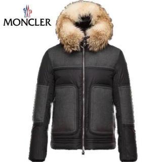 モンクレール(MONCLER)のMONCLER モンクレール 2017年DEDION 黑×グレー サイズ0(ダウンジャケット)