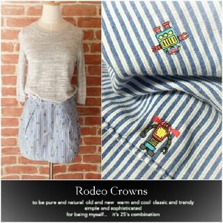 RODEO CROWNS - RODEO CROWNS*ロデオクラウンズ【美品】ロボットストライプスカート