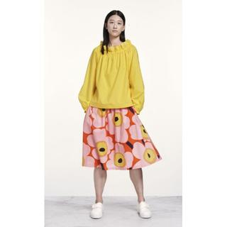 マリメッコ(marimekko)の美品 marimekko マリメッコ UNIKKO ウニッコ フレアスカート S(ひざ丈スカート)