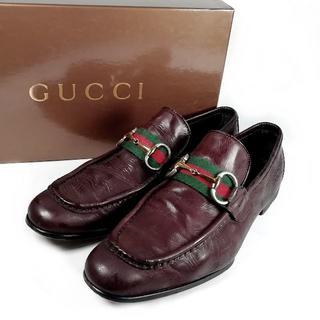 0d3cea194d70 グッチ(Gucci)の良品 グッチ ホースビット シェリー ローファー UI57(デッキシューズ)