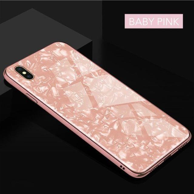 大理石柄 クリスタル シェル ケース iPhone7/8 ベイビーピンクの通販 by TKストアー |ラクマ