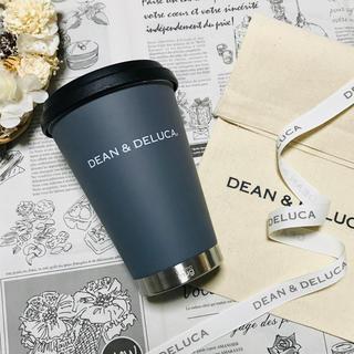 ディーンアンドデルーカ(DEAN & DELUCA)のラッピングset付きDEAN&DELUCAグレー/限定タンブラー マグボトル水筒(タンブラー)
