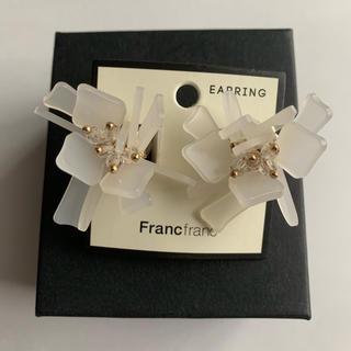 フランフラン(Francfranc)のフラワーモチーフイヤリング(イヤリング)