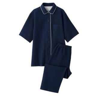 MUJI (無印良品) - 新品    無印良品  脇に縫い目のない ワッフル織り半袖パジャマ