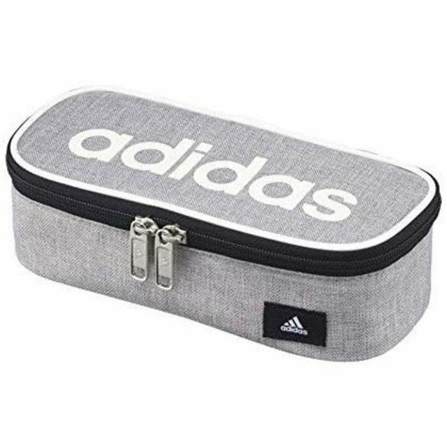 adidas(アディダス)の三菱鉛筆 アディダス ペンケース ボックスタイプ グレー ネイビー 筆箱   インテリア/住まい/日用品の文房具(ペンケース/筆箱)の商品写真