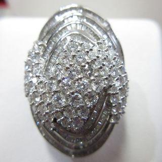 ゴージャスなダイヤモンド合計5ct・無色透明系ダイヤモンド(リング(指輪))
