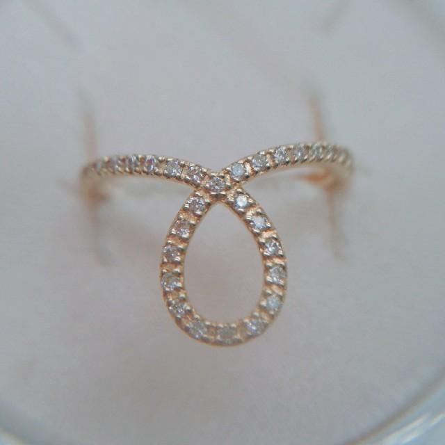 COCOSHNIK(ココシュニック)の専用です○ココシュニックK18ペアシェイプリング レディースのアクセサリー(リング(指輪))の商品写真