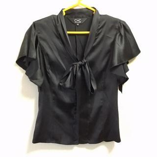 クードシャンス(COUP DE CHANCE)のお値下げ♥クードシャンス ブラウス~ブラック 38サイズ(シャツ/ブラウス(半袖/袖なし))
