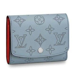 LOUIS VUITTON - LV ルイヴィトン  マヒナレザー イリス  折財布 ギフトラッピング OK
