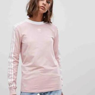 adidas originalsアディダスオリジナルス ピンクロングTシャツM
