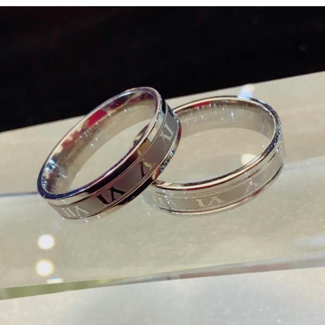 ローマ字リング ステンレスリング ステンレス指輪 ピンキーリング メンズのアクセサリー(リング(指輪))の商品写真
