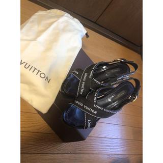 ルイヴィトン(LOUIS VUITTON)のルイ ヴィトン ウエッジソールサンダル 35.5(サンダル)