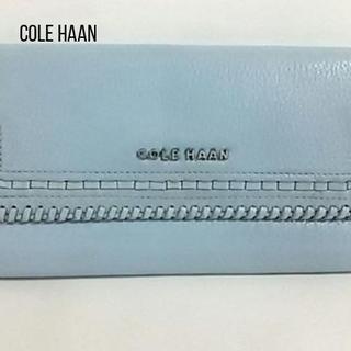 Cole Haan - COLE HAAN(コールハーン) 長財布 ライトブルー レザー