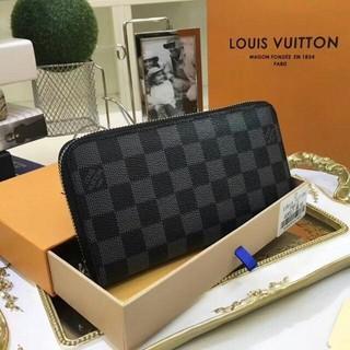 LOUIS VUITTON - LOUIS VUITTON ルイヴィトン 長財布 ダミエ ブラック 男女兼用