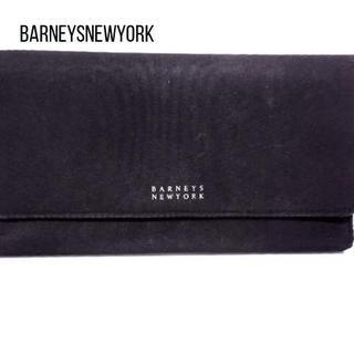 バーニーズニューヨーク(BARNEYS NEW YORK)のBARNEYSNEWYORK(バーニーズ) 長財布 黒 ナイロン(財布)