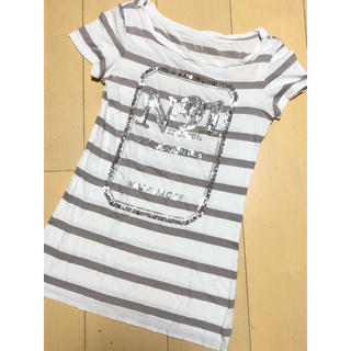 ARMANI EXCHANGE - AX アルマーニエクスチェンジ Tシャツ 半袖 XS スパンコール