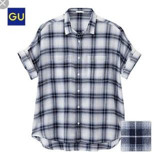 ジーユー(GU)のロールアップシャツ 半袖 チェック(シャツ/ブラウス(半袖/袖なし))
