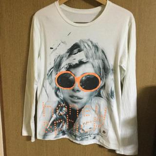 グランドキャニオン(GRAND CANYON)のHoney Phick ロングTシャツSG GIRLラインストーン 未使用値下げ(Tシャツ/カットソー(七分/長袖))