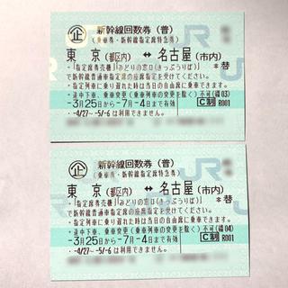 JR - [送料無料] 新幹線指定席特急券 東京 ⇄ 名古屋 2枚