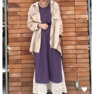 LOWRYS FARM - 【美品】今季!!スーピマコットンワンピース